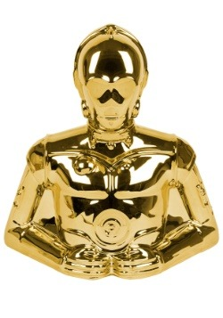 Star Wars C3PO Gold Electroplated Coin Bank