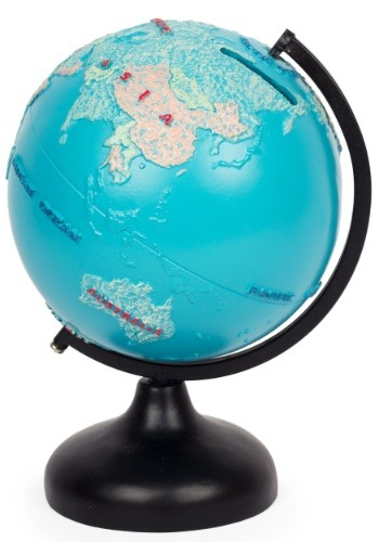 Resin Earth Globe Coin Bank