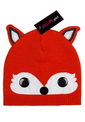 Delia's Fox Cold Weather Girl's Beanie Hat