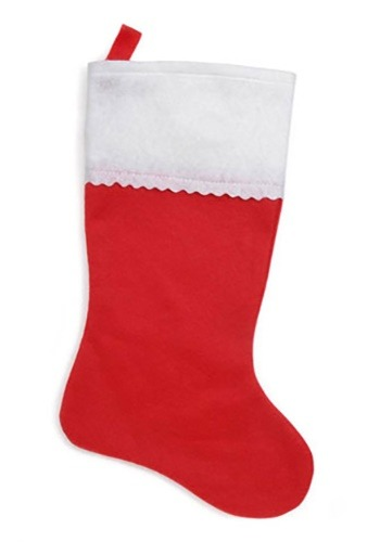 "18"" Christmas Stocking Red Felt"