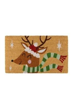 Festive Reindeer Christmas Doormat