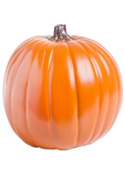 "Carvable 9"" Artificial Orange Pumpkin"