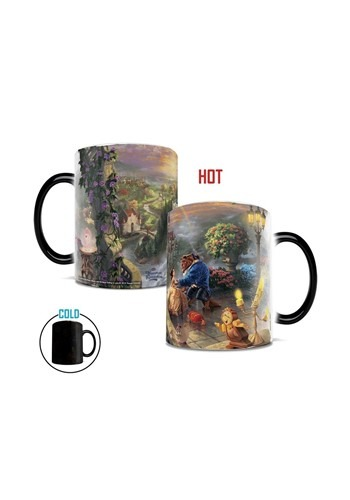 Thomas Kinkade Disney Beauty & the Beast Morphing Mug