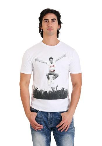 Men's Freddie Mercury- Flash Jump Crowd White T-Shirt