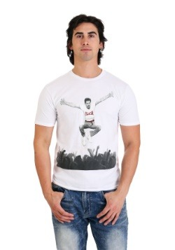 Men's Freddie Mercury- Flash Jump Crowd White T-Shirt