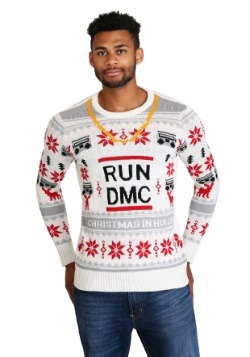 RUN DMC Chain Ugly Christmas Sweater