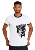 Marvel Black Panther Black Foil Logo Men's T-Shirt