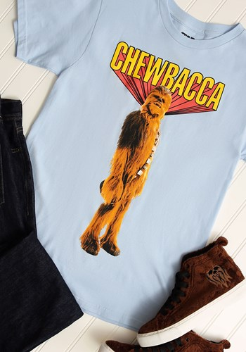 Chewbacca! Mens Light Blue T-Shirt