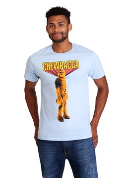 Chewbacca! Mens Light Blue T-Shirt Alt 1 Upd