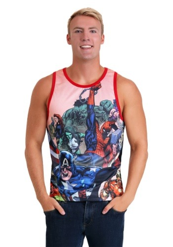 Marvel Avengers Black/Red Basketball Jersey