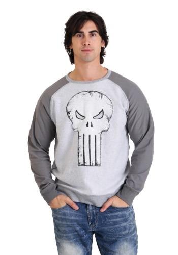 Marvel Punisher Skull Grey Fleece Pullover