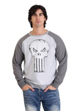 Marvel Punisher Skull Grey Fleece Pullover