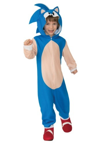 Child Sonic The Hedgehog Hooded Costume