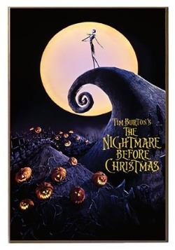 "Nightmare Before Christmas 13"" x 19"" Printed Wood Sign"