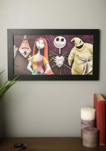 """Nightmare Before Christmas Group 8""""x12"""" Framed MDF"""