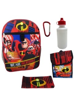 Incredibles 5-Piece Backpack Set