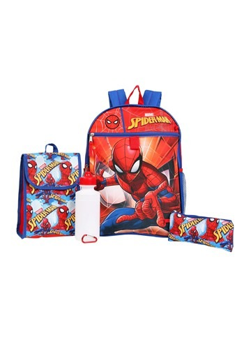5-Piece  Spider-Man Backpack Set