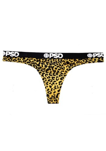 PSD Underwear- Cheetah Yellow Women's Thong