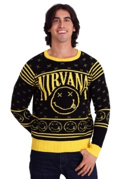 Nirvana Smiley Pattern Ugly Christmas Sweater
