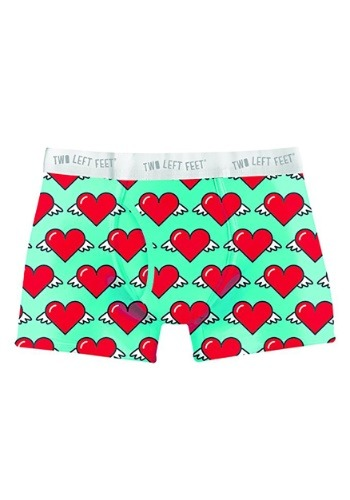 Two Left Feet Love is in the Air Hearts Print Men's Trunk Bo