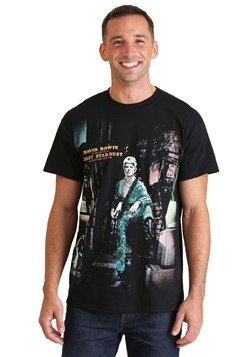 Mens Ziggy Stardust David Bowie Black Athletic T-Shirt