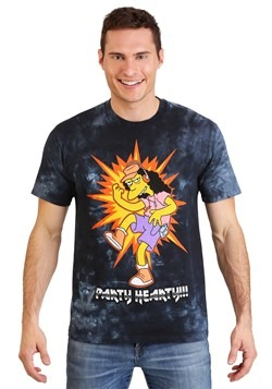 Adult The Simpsons Otto Metal Rules Tie-Dye T-Shirt