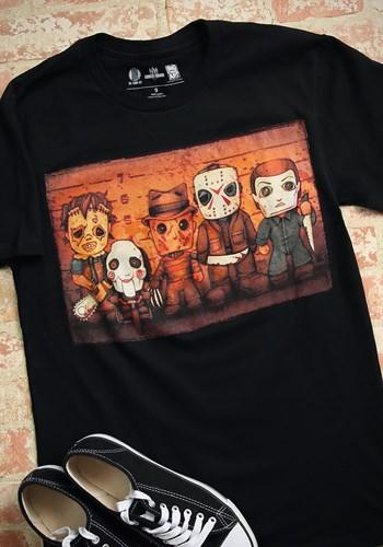 Horror Killer Line Up Men's Black T-Shirt