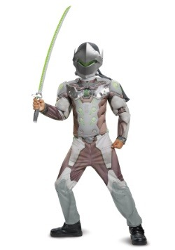 Overwatch Boys Genji Classic Muscle Costume