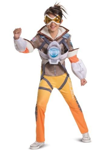 Overwatch Girls Tracer Deluxe Costume