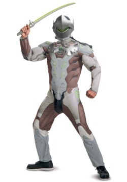 Overwatch Adult Genji Muscle Costume