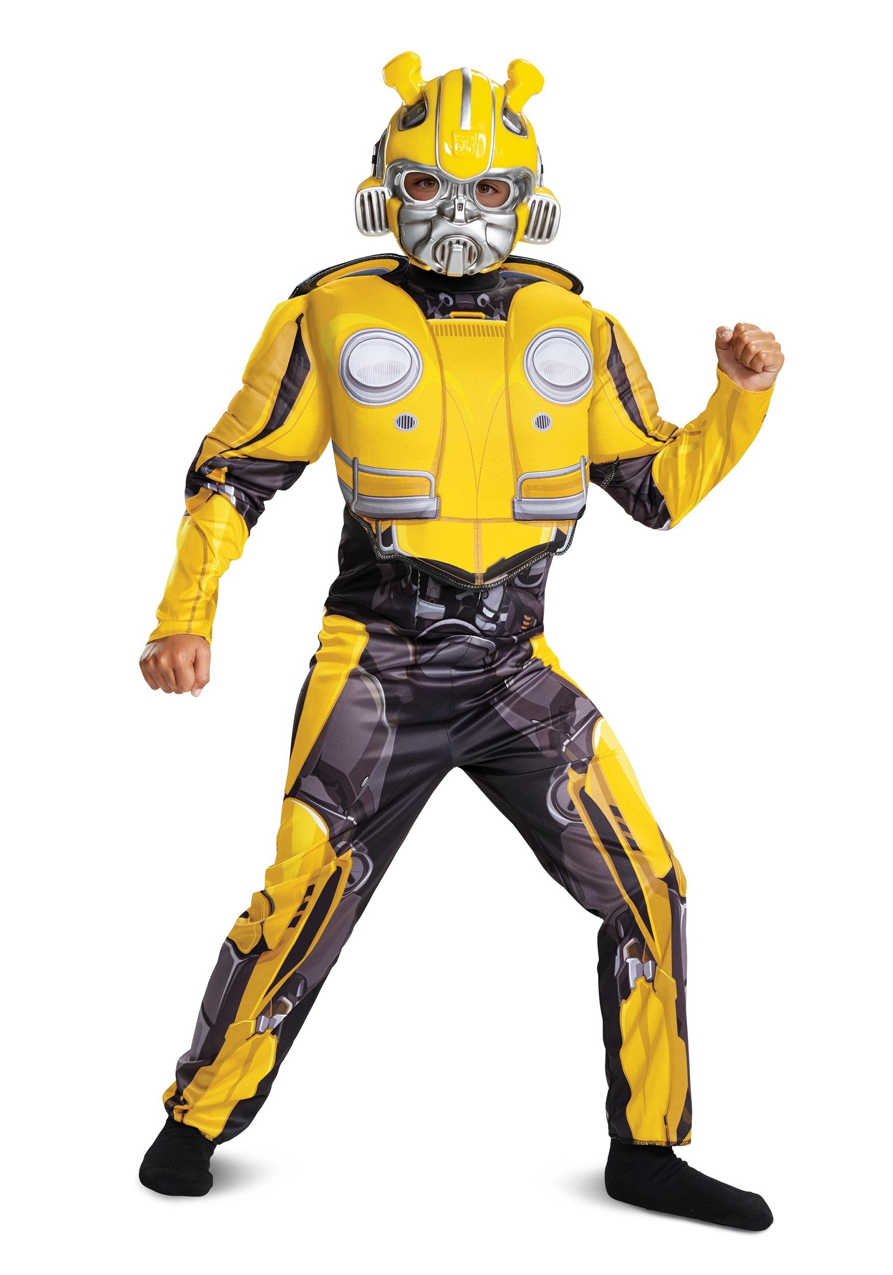 Kids Bumblebee Movie Bumblebee Muscle Costume