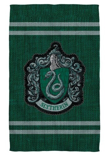 Harry Potter Slytherin Stitch Crest Bath Towel