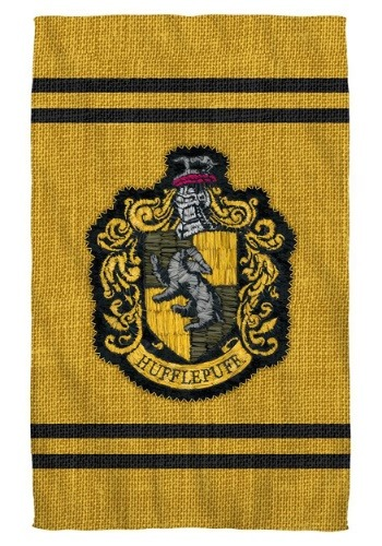 Harry Potter Hufflepuff Stitch Crest Bath Towel
