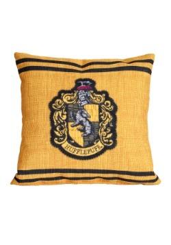 """Harry Potter Hufflepuff Stitch Crest 14"""" x 14"""" Throw Pillow"""