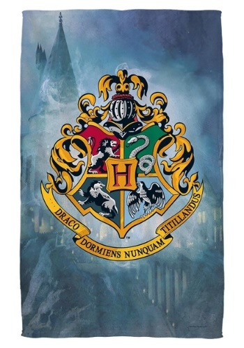 Harry Potter Hogwarts Crest Bath Towel