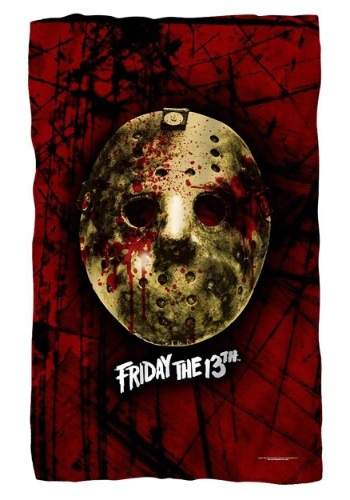 Friday the 13th Bloody Jason Mask Lightweight Fleece Blanket