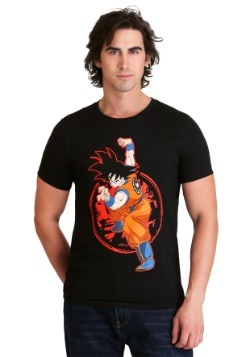 Dragon Ball Z - Goku & Z Stamp Men's Black T-Shirt