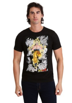Mens Dragon Ball Z - Character Panels Black T-Shirt