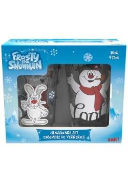 2pc Frosty the Snowman Glass Set
