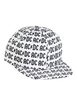AC/DC Allover Print White Flatbill Snapback Hat