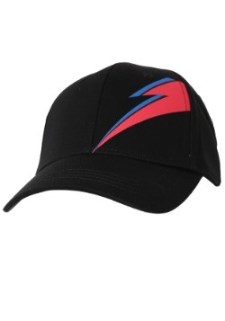 David Bowie Stardust Bolt Black Baseball Snapback Hat
