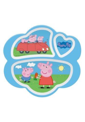 Peppa Pig 3 Section Plate