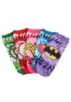 Womens Tye Dye DC Comic Justice League 5 Pair Lowcut socks