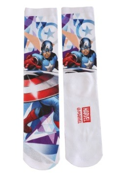 Adult Captain America Photoreal 2-Pack Crew Socks