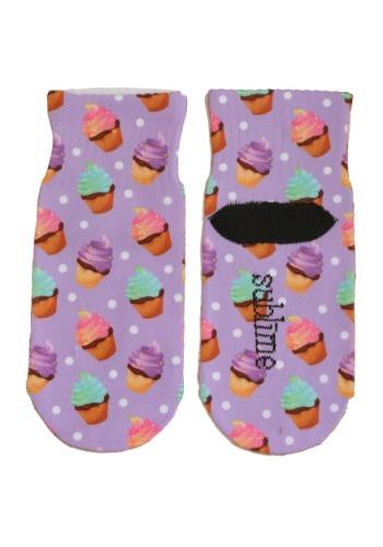 Cupcakes Kids Purple Ankle Socks