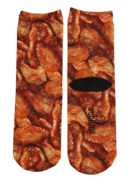 Chicken Wings Adult Crew Socks