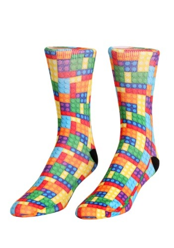 Building Bricks Adult Crew Socks