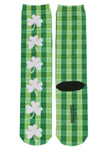 Saint Patrick's Plaid Adult Knee-High Socks