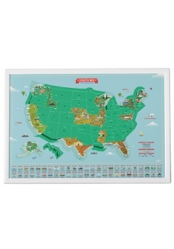 USA Landmarks Scratch Map