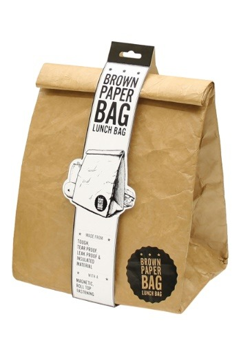 Insulated Brown Paper Lunch Bag